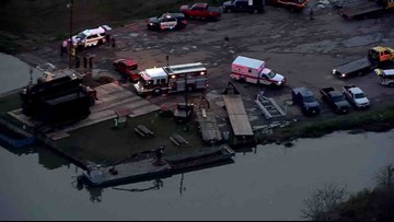 Body recovered from car driven into Dickinson Bayou