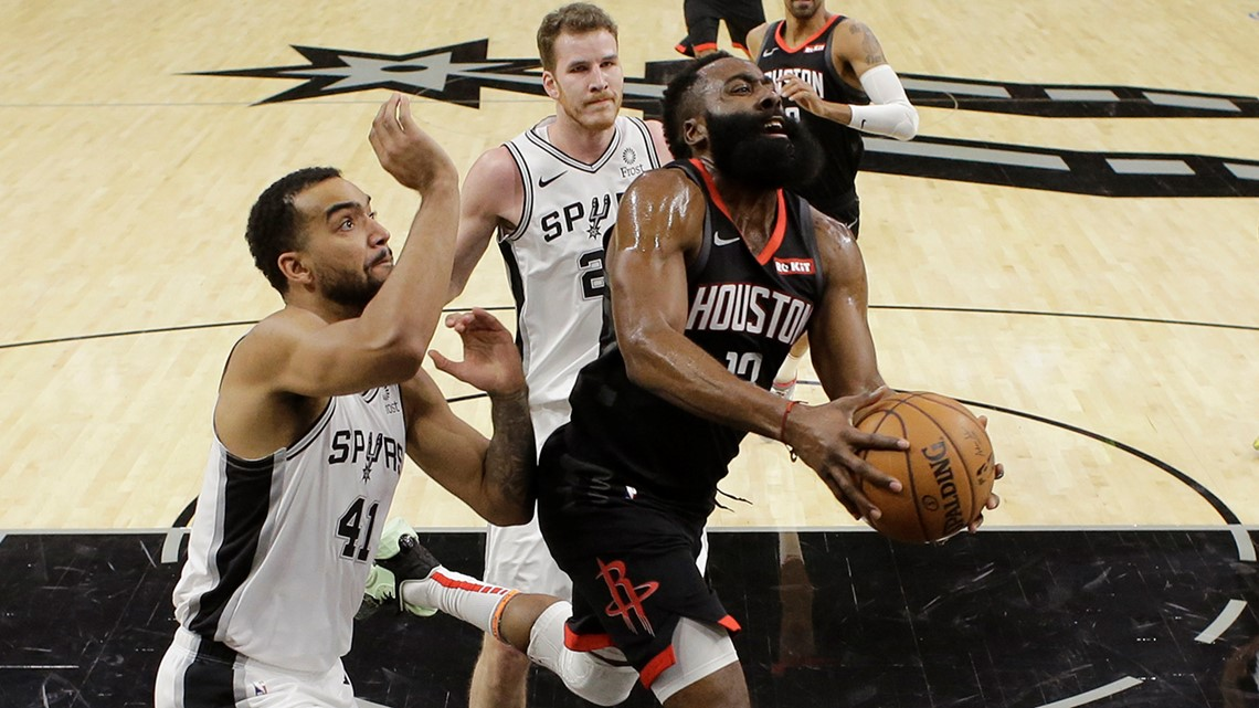 See the botched call on a Harden slam that may have cost the Rockets a win over the Spurs last night