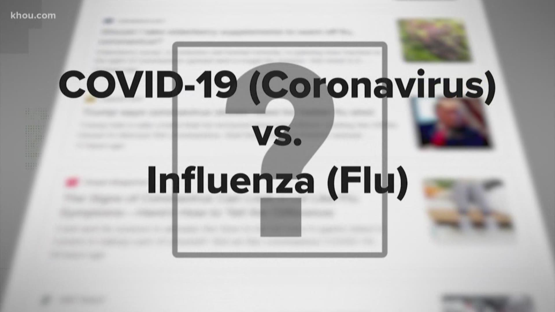 How Can You Tell If It S Coronavirus Flu Or Allergies Khou Com