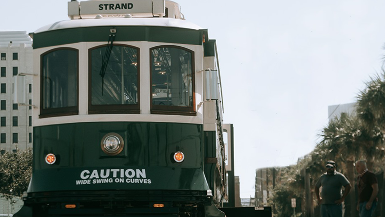 After more than 10 years, rail trolleys are returning to Galveston Island