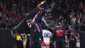 Hopkins has 2 TDs, Texans top Colts to top AFC South