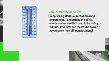 VERIFY: Does Houston get their official temperature records from IAH or Hobby Airport?