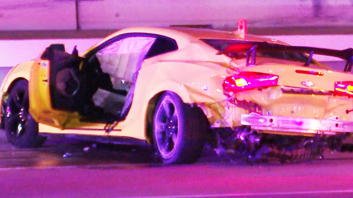 Camaro slams into innocent driver in deadly crash at underground car meet near Houston   Raw video
