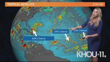 Tropical disturbance expected to enter the Gulf of Mexico later this week - 60% chance of development
