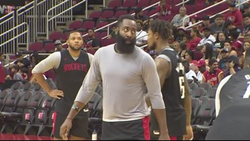 Rockets host open practice for fans on heels of controversial Asia road trip