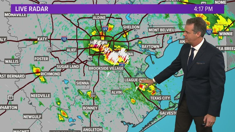 Houston Forecast: Thunderstorms bringing heavy rains during the afternoon commute