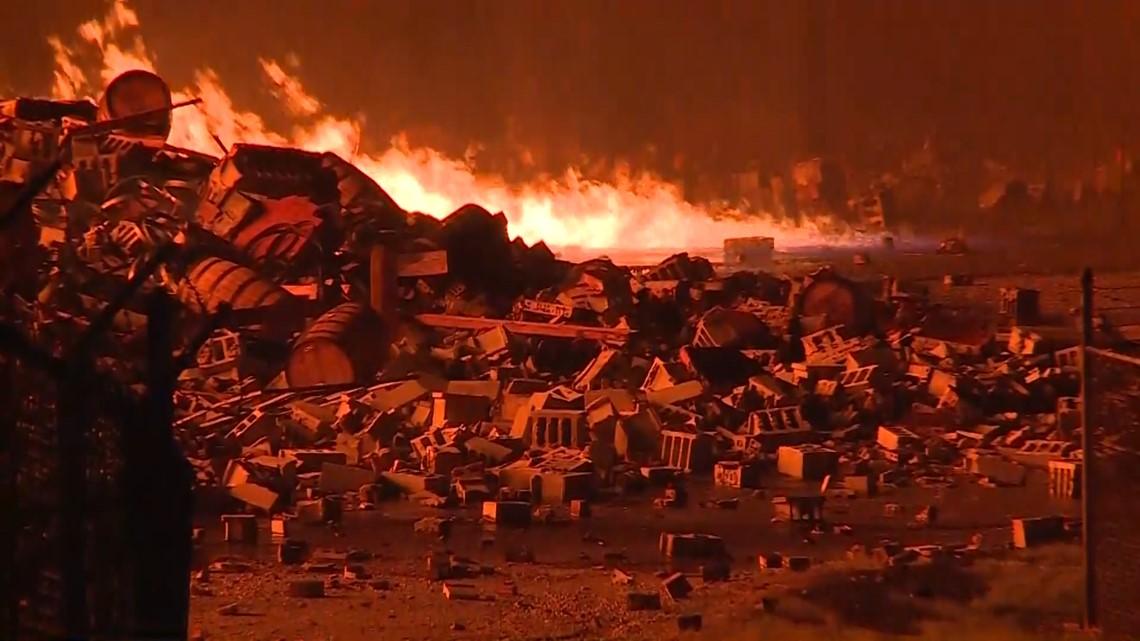 Jim Beam Warehouses In Kentucky Storing Thousands Of Barrels Of Bourbon Catch Fire Khou Com