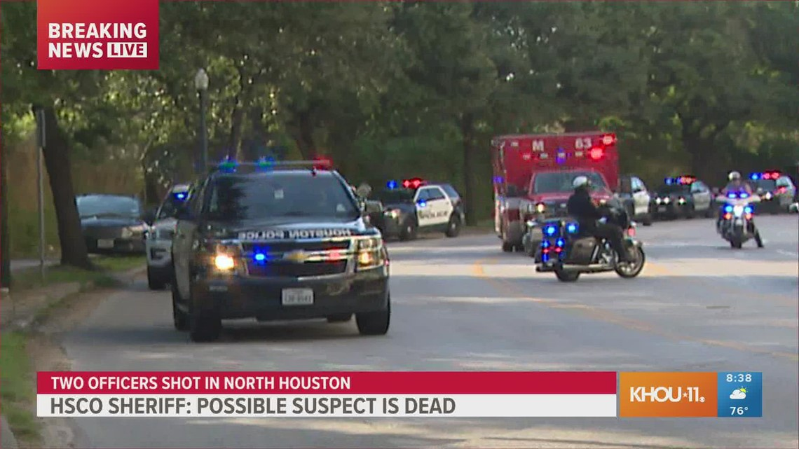 WATCH: Big police escort for officer wounded in Houston shooting