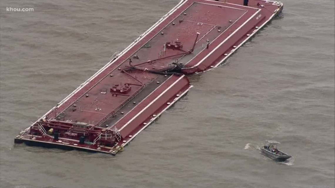do you smell gasoline after barge collision in houston