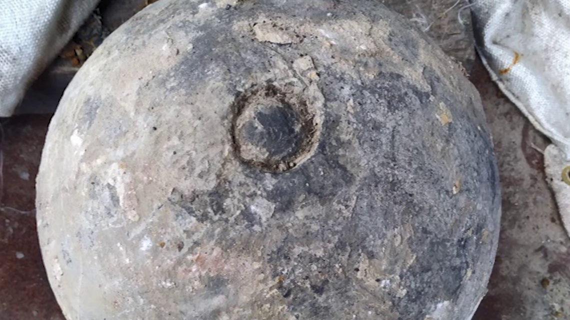 Civil War-era cannonball discovered under downtown Houston could soon be detonated