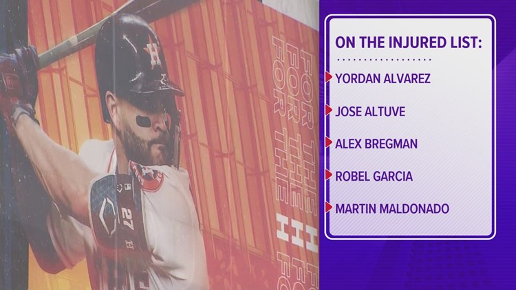 5 Astros players placed on IL due to health and safety protocol