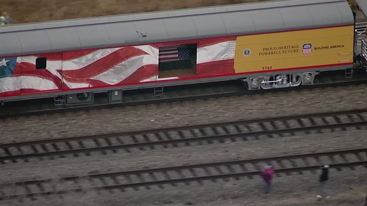Aerial View Of George H W Bush S Train Traveling To College Station