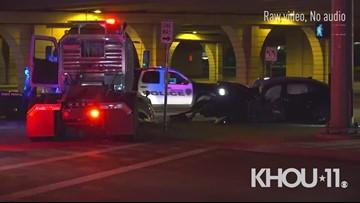 Raw: Fatal crash investigation on Highway 6 at Katy Freeway   Houston, Texas