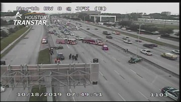 North Beltway 8 closed due to deadly multi-vehicle crash