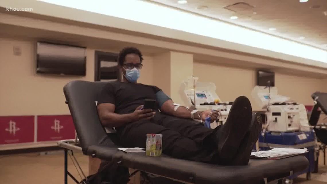 Houston Rockets host blood drive
