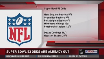 Super Bowl 53 odds are already out