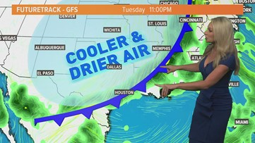 TIMELINE: Houston's first fall front of the season is on the way | When you'll feel cooler temps