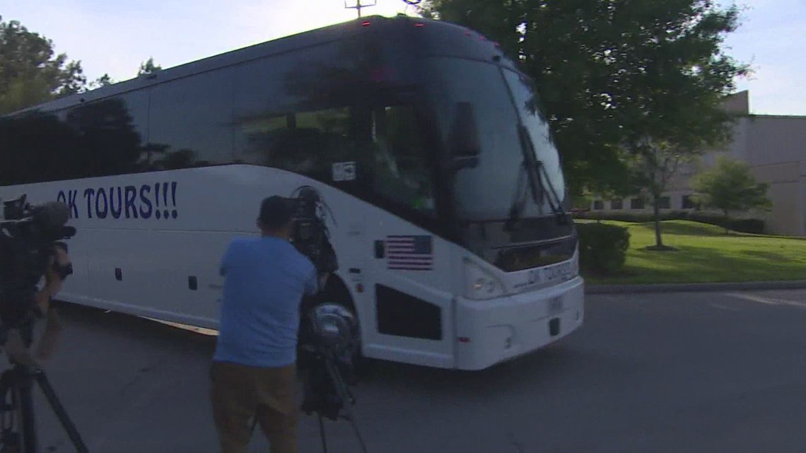 Hundreds of undocumented children arriving at new emergency Houston shelter