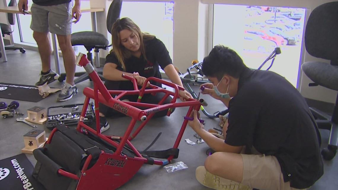 Wheelchairs once used by Team USA being repurposed by UH students for other athletes