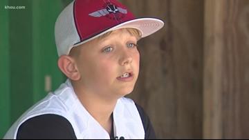 After beating cancer, Baytown boy inspires youth baseball teams