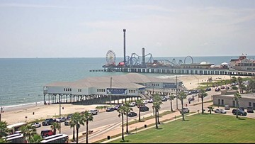 Clear blue-green water is back in Galveston just in time for Labor Day Weekend