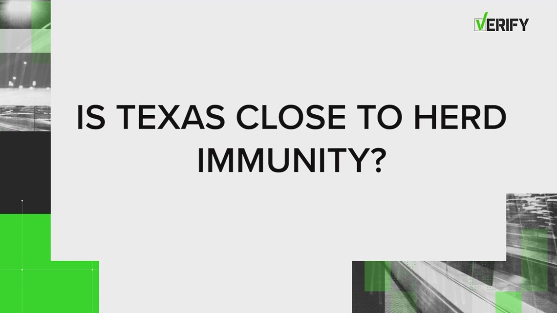 VERIFY: Texas is not 'very close' to herd immunity from COVID-19