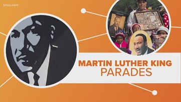 Why does Houston honor MLK with two competing parades?