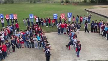 Sundown Elementary kids celebrate 99th day of school inspired by J.J. Watt