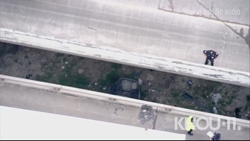 Raw: 4-year-old child dies after car falls of I-10 East at the San Jacinto River