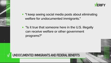 VERIFY: Are undocumented immigrants eligible for federal