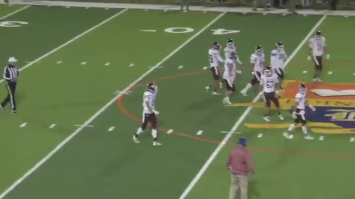 Texas high school football player charges onto field, hits referee