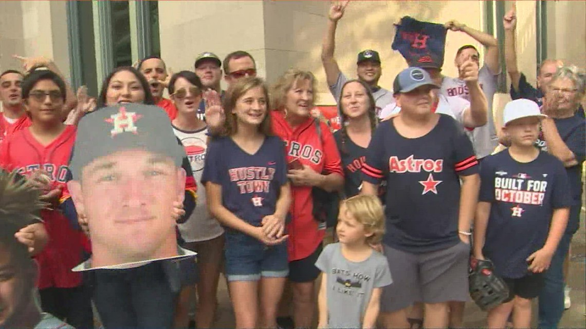Astros fans ready for a Game 1 win!