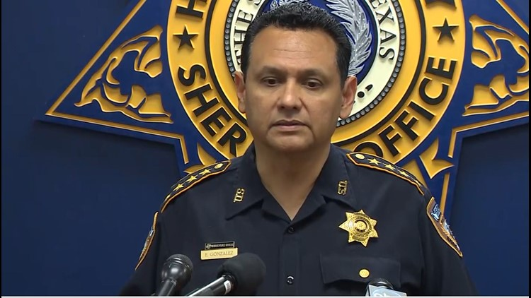 Harris County Sheriff Ed Gonzalez during a press conference on Wednesday, July 11, 2018.