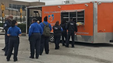Nonprofit food truck feeds furloughed TSA workers at Bush Airport