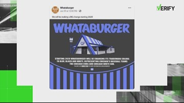 VERIFY: Is Whataburger getting a black and blue makeover?