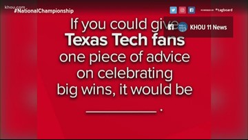 Houston offers advice to Texas Tech fans before NCAA title game