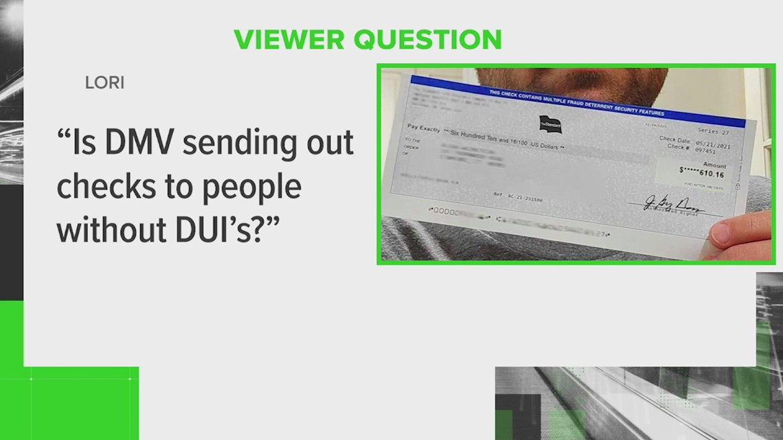 Is Texas sending out checks to drivers without DUI's?
