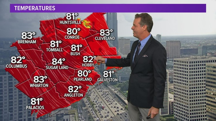Houston forecast: Temps in 80s with nice evening ahead