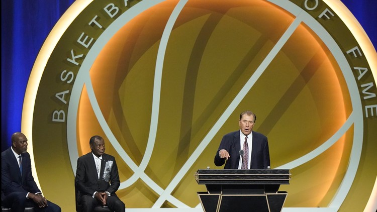 Houston sports icon Rudy Tomjanovich talks about being enshrined among basketball's greats