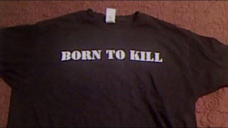 "Dimitrious Pagourtzis posted a ""Born to Kill"" t-shirt on his Facebook page on April 30. (Facebook)"