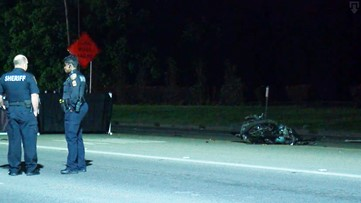 Motorcyclist killed in crash in front of Crosby Middle School