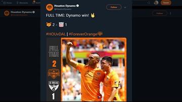 Manotas scores twice, Dynamo beats FC Dallas 2-1