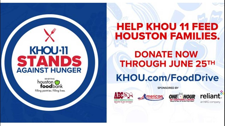 Donate to the KHOU 11 'Stands Against Hunger' food drive!