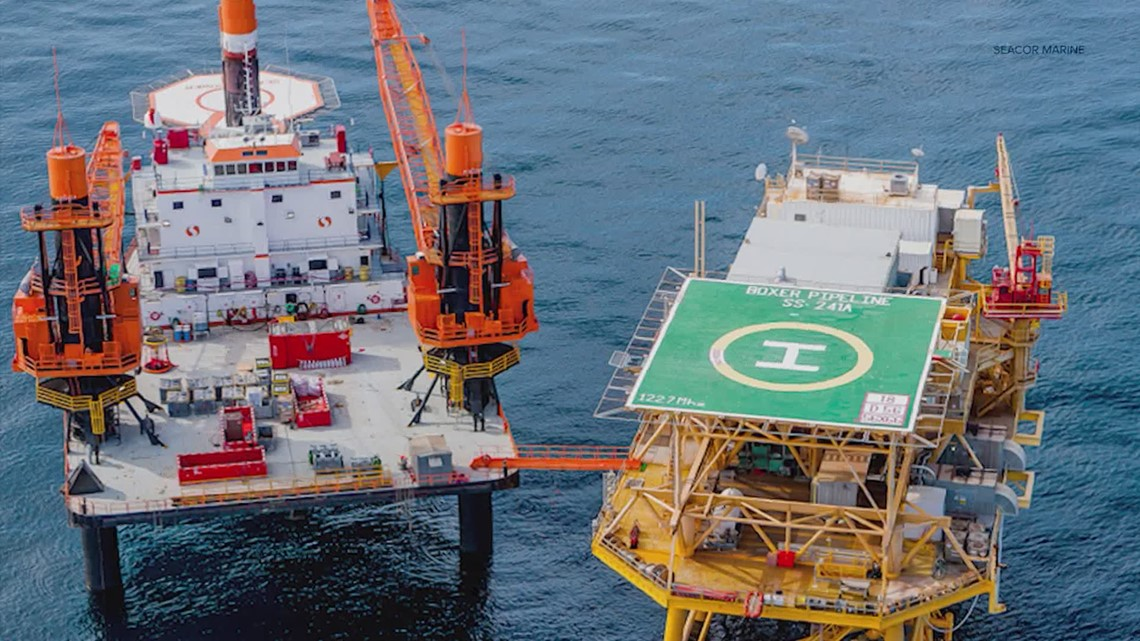 What is a liftboat? How is it used with oil rigs?