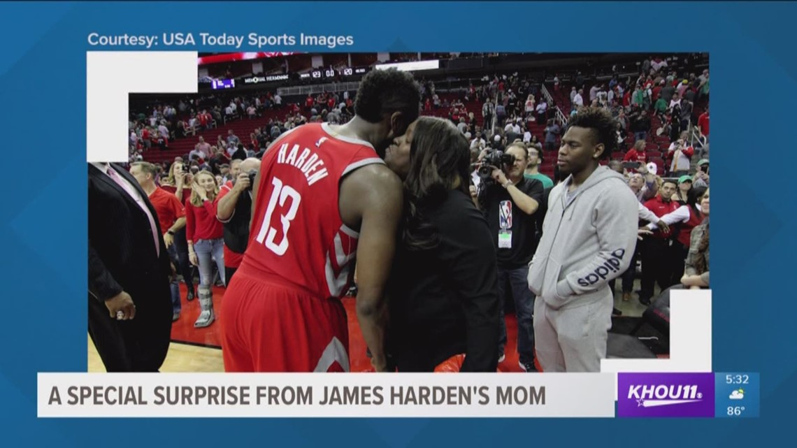8bf4485b67e2 A special surprise from James Harden s mom