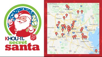 Secret Santa Toy Drive drop-off locations