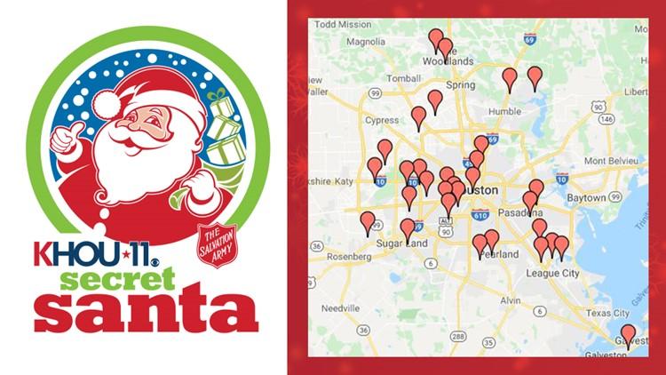 Secret Santa Toy Drive drop-off locations