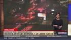 18-wheeler driver survives crash, massive fire
