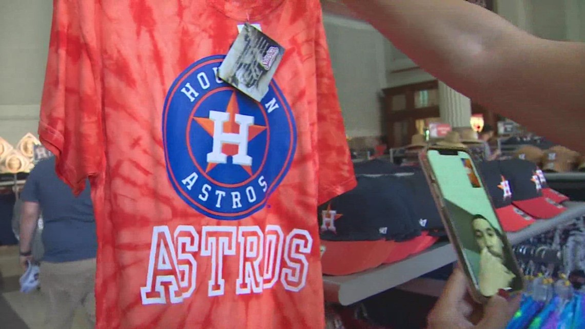 Astros fans buy new merch ahead of playoff series against Red Sox