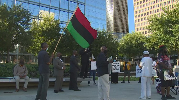 Demonstrations held in Houston showing support for Haitian migrants